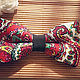 Галстуки, бабочки ручной работы. Галстук бабочка Красная флора / бабочка галстук с цветочками красными. Respect Аксессуары. Интернет-магазин Ярмарка Мастеров.