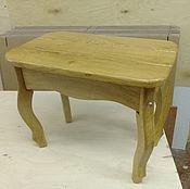 Для дома и интерьера ручной работы. Ярмарка Мастеров - ручная работа Широкий табурет из массива дуба. Handmade.