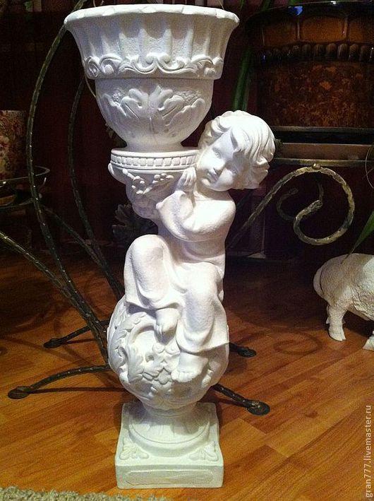 """Статуэтки ручной работы. Ярмарка Мастеров - ручная работа. Купить Кашпо """"Ангел"""". Handmade. Белый, ангел, подарок, Гипсовая заготовка"""