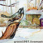 """Картины и панно ручной работы. Ярмарка Мастеров - ручная работа """"Зимние пташки"""", """" Winter`s dicky-bird"""". Handmade."""