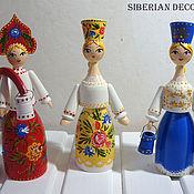 Русский стиль handmade. Livemaster - original item Wooden doll Siberian beauties. Handmade.