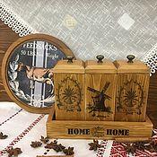 Наборы посуды ручной работы. Ярмарка Мастеров - ручная работа Набор для хранения специй, чая или кофе. Handmade.
