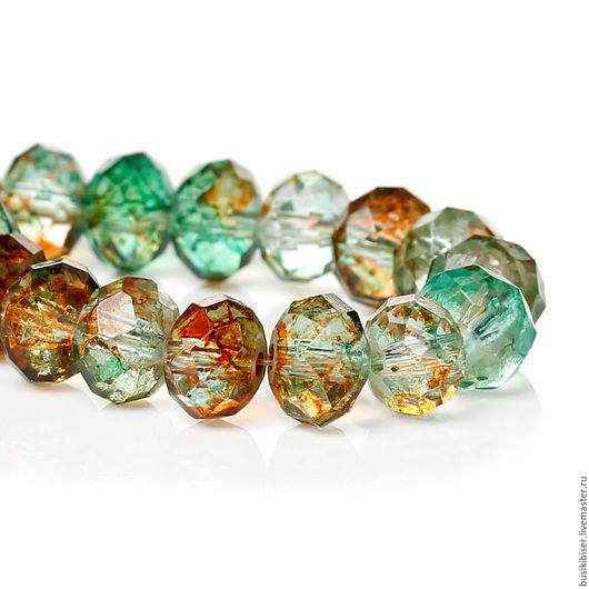 Для украшений ручной работы. Ярмарка Мастеров - ручная работа. Купить Стеклянные бусины-кристаллы разноцветные 8 мм.. Handmade.