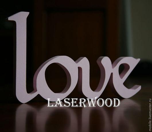 Интерьерные слова ручной работы. Ярмарка Мастеров - ручная работа. Купить Буквы из дерева. Handmade. Бледно-розовый, буквы из дерева