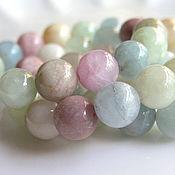 Материалы для творчества handmade. Livemaster - original item Aquamarine beryl beads 10mm. Handmade.