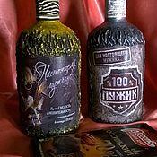 Подарки ручной работы. Ярмарка Мастеров - ручная работа Подарочная бутылочка. Handmade.