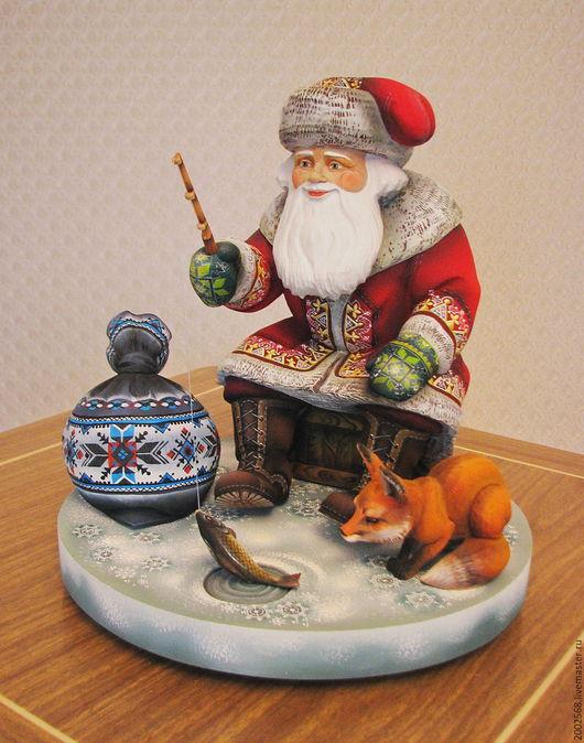 Сказочные персонажи ручной работы. Ярмарка Мастеров - ручная работа. Купить Дед Мороз - Рыбачок!. Handmade. Комбинированный, vip подарок