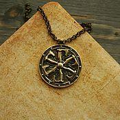 Украшения handmade. Livemaster - original item Bronze shield pendant. Handmade.
