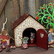"""Куклы и игрушки ручной работы. Ярмарка Мастеров - ручная работа Игровой набор """"Теремок"""". Handmade."""