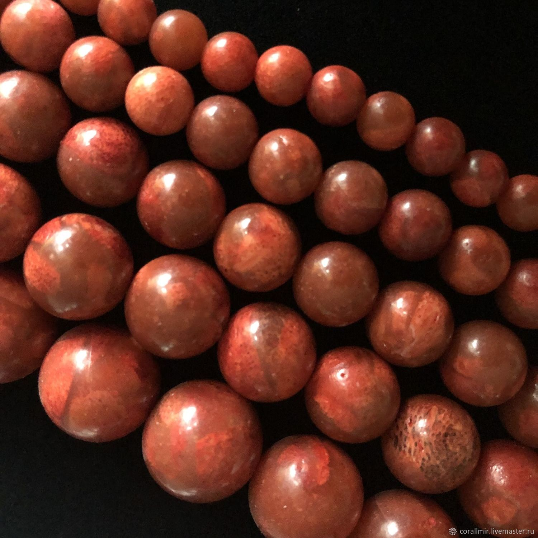 "Бусина ""Коралл шар"", 5 размеров, коралл, Бусины, Обнинск,  Фото №1"