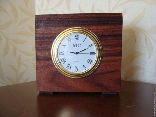 Часы для дома ручной работы. Ярмарка Мастеров - ручная работа. Купить Часы настольные деревянные ясень и палисандр. Handmade. Ясень