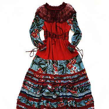 """Одежда ручной работы. Ярмарка Мастеров - ручная работа Платье в стиле бохо """"Une fleur rebelle"""". Handmade."""