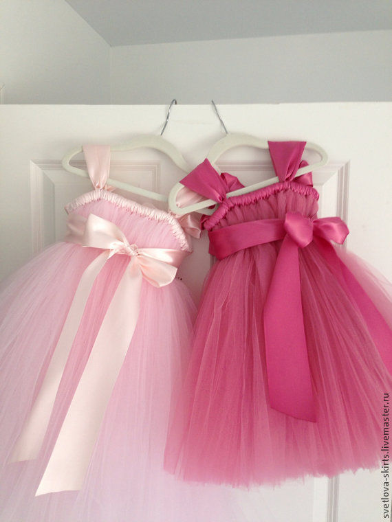 Платья из фатина для детей своими руками