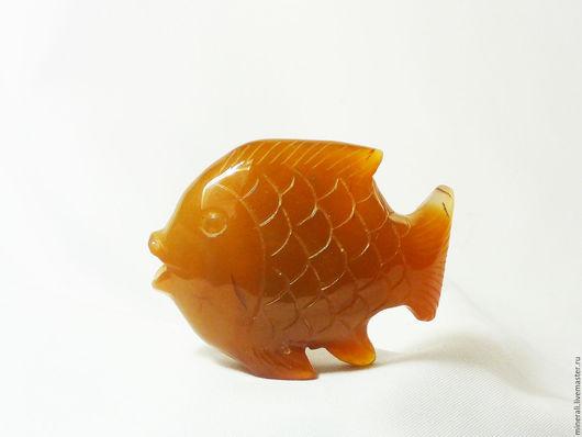 """Статуэтки ручной работы. Ярмарка Мастеров - ручная работа. Купить """"Золотая рыбка""""  сердолик. Handmade. Рыжий, фигурка из агата"""