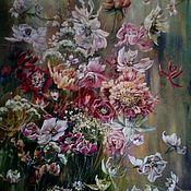 Картины и панно ручной работы. Ярмарка Мастеров - ручная работа Картина с изображением цветов. Handmade.