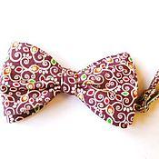 Аксессуары handmade. Livemaster - original item Butterfly tie cotton linen. Handmade.
