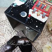 """Подарки к праздникам ручной работы. Ярмарка Мастеров - ручная работа короб """"Новогодняя ночь"""". Handmade."""