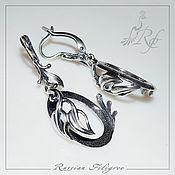 Материалы для творчества handmade. Livemaster - original item Basis for earrings flora (18h25 mm) plating, Russia. Handmade.