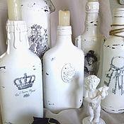 """Комплекты аксессуаров для дома ручной работы. Ярмарка Мастеров - ручная работа Бутылки интерьерные """"French Vintage"""". Handmade."""