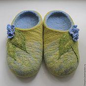 Обувь ручной работы. Ярмарка Мастеров - ручная работа Тапочки Незабудки. Handmade.