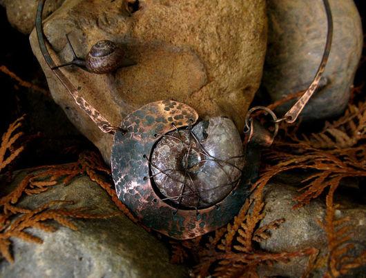 """Колье, бусы ручной работы. Ярмарка Мастеров - ручная работа. Купить Колье """"Артефакт медный"""". Handmade. Медь, древний, медь"""