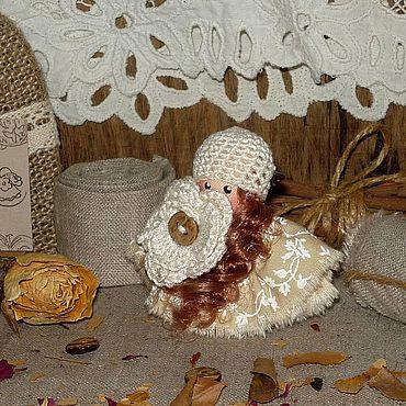 """Украшения ручной работы. Ярмарка Мастеров - ручная работа """"Первый иней"""" Маленький ангел брошь подарок для девочки. Handmade."""