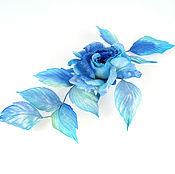handmade. Livemaster - original item Rose-brooch Venus (silk floristry) author`s work. Handmade.