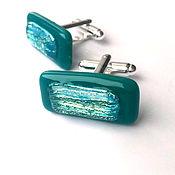 Украшения handmade. Livemaster - original item Cufflinks Emerald. Unisex. Handmade.