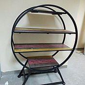 Стеллажи ручной работы. Ярмарка Мастеров - ручная работа Стеллажи: Круглая этажерка  в стиле лофт.. Handmade.