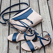 Обувь ручной работы handmade. Livemaster - original item Women`s sandals from natrualnym skin Nicole. Handmade.