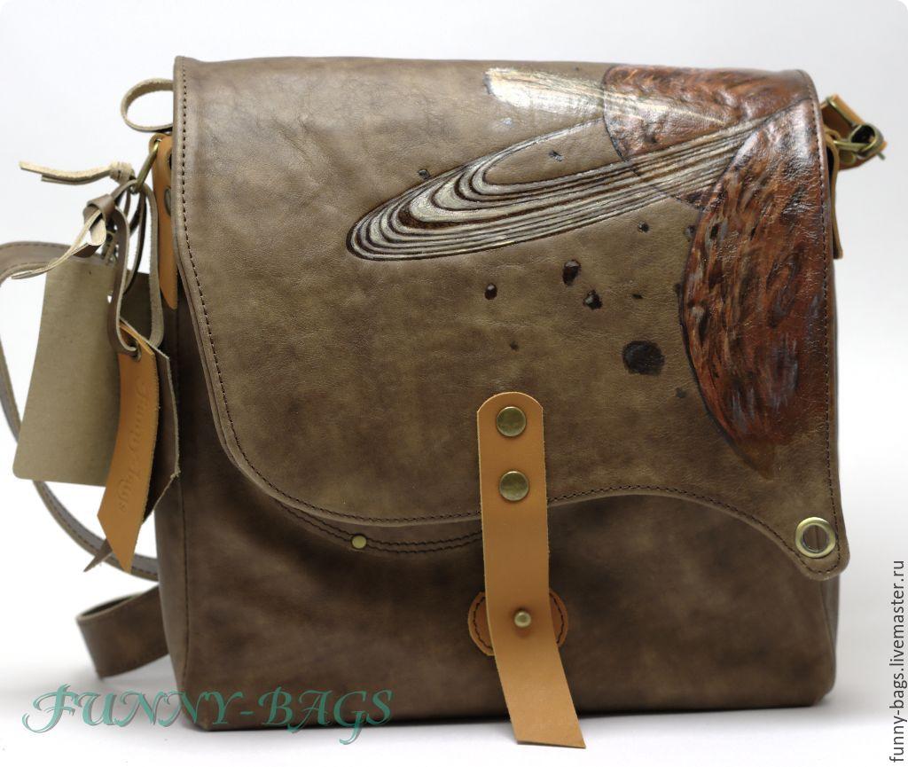 5fca134a5a16 Мужские сумки ручной работы. Ярмарка Мастеров - ручная работа. Купить Кожаная  сумка унисекс