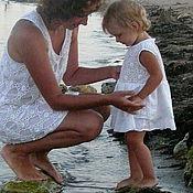 """Работы для детей, ручной работы. Ярмарка Мастеров - ручная работа Пляжное платье """"Для мамы и малышки"""". Handmade."""