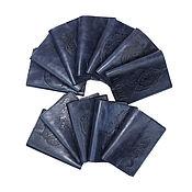 Сумки и аксессуары handmade. Livemaster - original item Passport covers, leather, blue. Handmade.