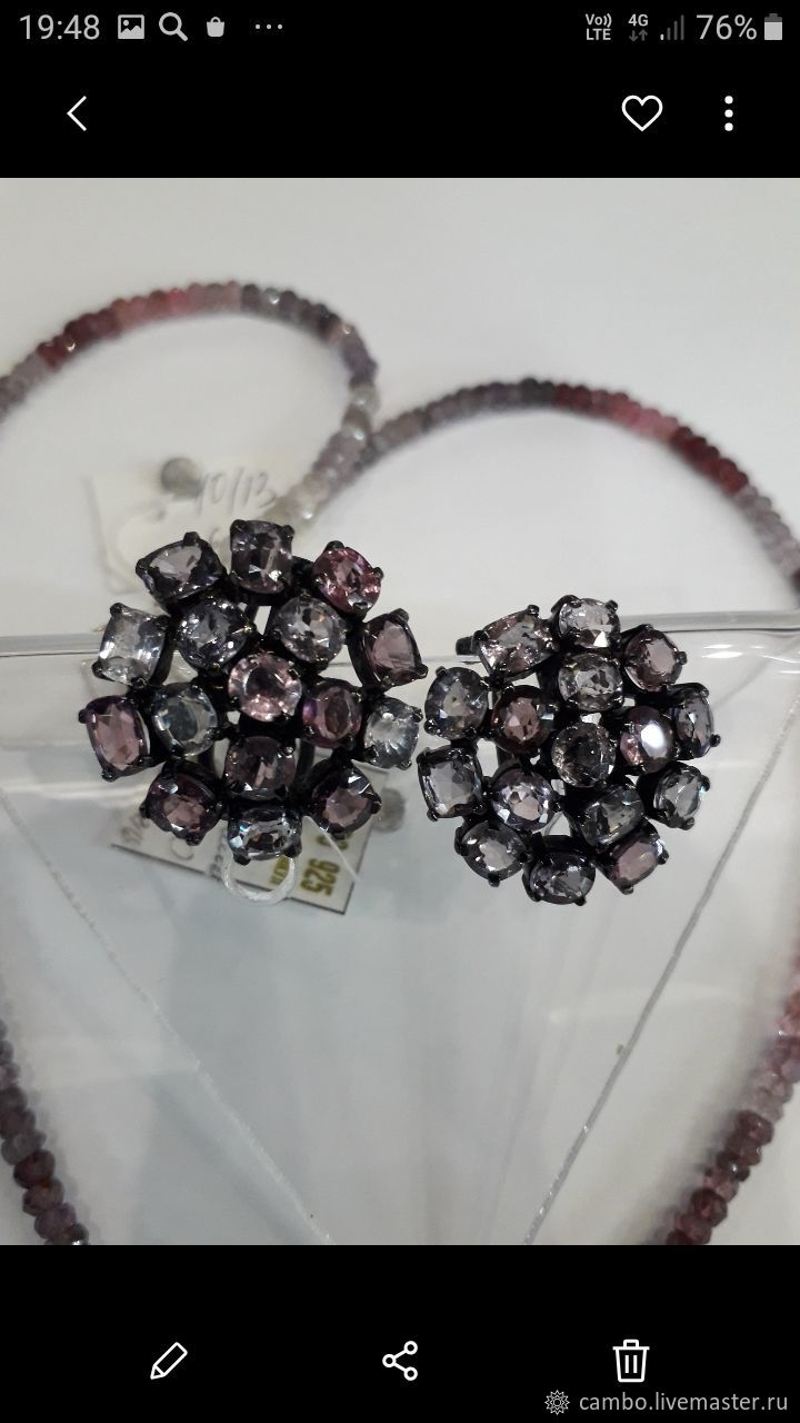 Spinel earrings in different colors, Earrings, Moscow,  Фото №1