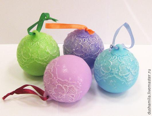 Мыло ручной работы. Ярмарка Мастеров - ручная работа. Купить Мыло Новогодний шар. Handmade. Розовый, елка, мыло для детей