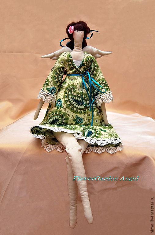 Куклы Тильды ручной работы. Ярмарка Мастеров - ручная работа. Купить Кукла Тильда ручной работы. Handmade. Зеленый, подарок