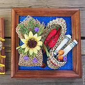 """Картины и панно ручной работы. Ярмарка Мастеров - ручная работа панно-оберег """"На удачу"""". Handmade."""