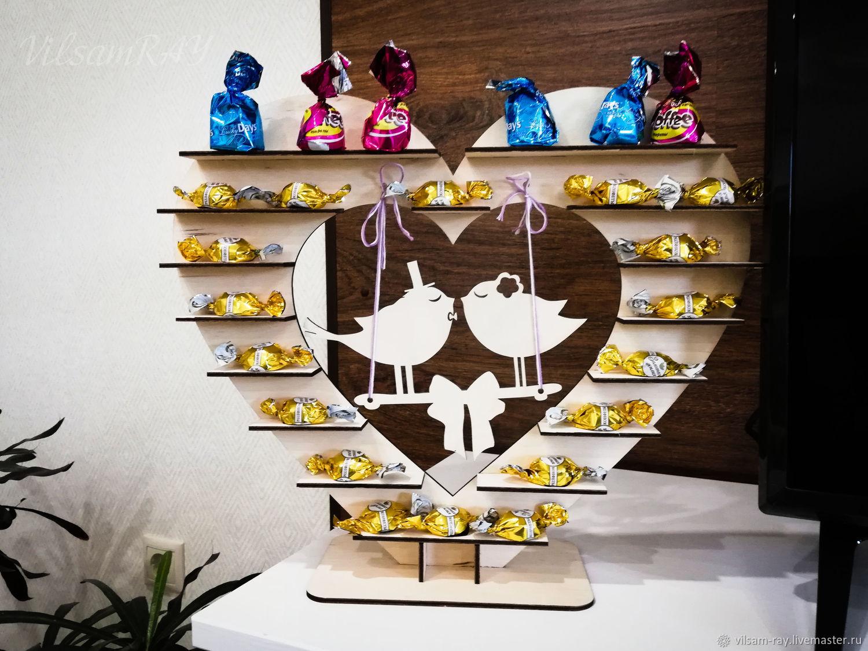 Подставка для конфет: Сердце для свадьбы, вечеринки, Аксессуары, Тюмень,  Фото №1
