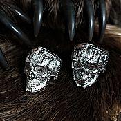 Rings handmade. Livemaster - original item Ring: Skull with inserts. Handmade.