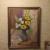 Картины и панно ручной работы. Ярмарка Мастеров - ручная работа Картина маслом Подсолнухи. Handmade.