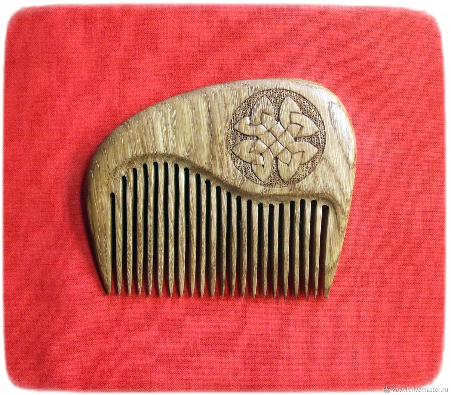 Wooden comb with the symbol CLOVER, Combs, Moscow,  Фото №1