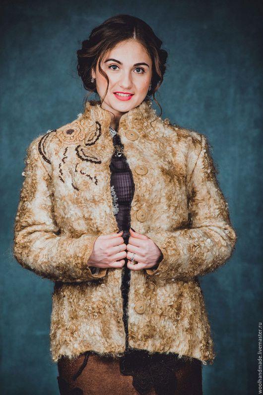Верхняя одежда ручной работы. Ярмарка Мастеров - ручная работа. Купить Куртка из шерсти по мотивам куртки Благородный беж. Handmade.