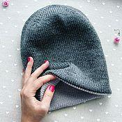 Аксессуары handmade. Livemaster - original item Beanie hat two-layer, two-color. Handmade.