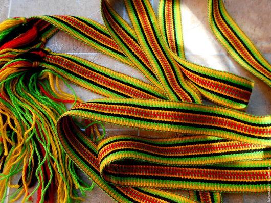 Одежда ручной работы. Ярмарка Мастеров - ручная работа. Купить Поясок домашний (1). Handmade. Желтый, русский стиль