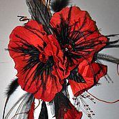 """Свадебный салон ручной работы. Ярмарка Мастеров - ручная работа Гирлянда из маков """"Red and Black"""". Handmade."""