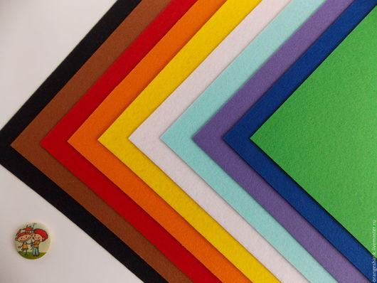 Другие виды рукоделия ручной работы. Ярмарка Мастеров - ручная работа. Купить Фетр корейский в наборе, 10 цветов 20 х 30см. Handmade.