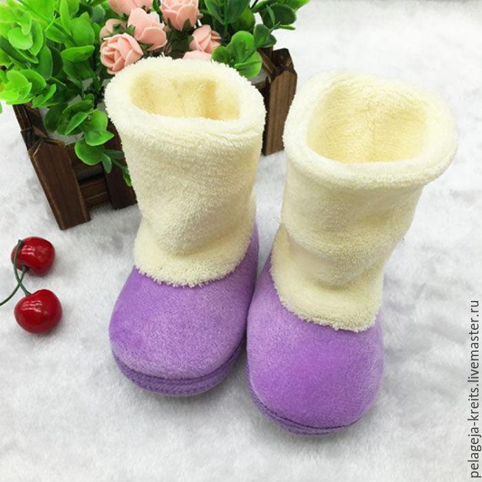 c94264936 Ярмарка Мастеров - ручная работа. Купить Детские зимние ботиночки на первые  шаги · ручной работы. Детские зимние ботиночки на первые шаги.