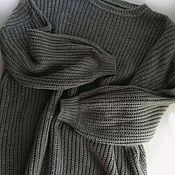 handmade. Livemaster - original item 100% cashmere oversize jumper with English elastic band.. Handmade.