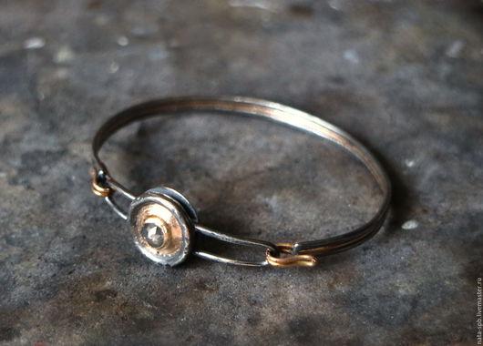 Браслеты ручной работы. Ярмарка Мастеров - ручная работа. Купить BUTTONS браслет  #5 (алмаз, серебро, золото). Handmade.