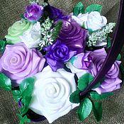 Косметика ручной работы. Ярмарка Мастеров - ручная работа Мыльный букет Розы фиолетовые и сиреневые. Handmade.